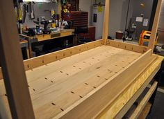 Dining Hall Table Constructed with Kreg Jig