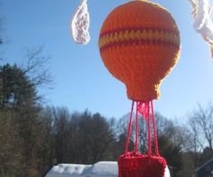 Crocheted Hot Air Balloon Mobile