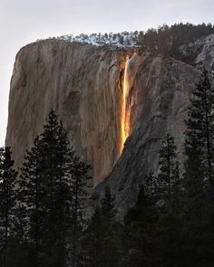 Sunshine + Waterfall  ::  Horsetail Falls, Yosemite National Park