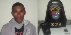 Polícia Militar apreende jovem com arma de choque - http://projac.com.br/noticias/policia-militar-apreende-jovem-com-arma-de-choque.html