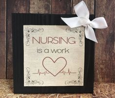 "PRODUCT DETAILS:     6"" x 6"" Wooden block with printed canvas quote. Nurses Week will be here soon. Gift the gift they will love!    PROCESSING TIME:  1 day or up to 2 days for custom orders. We work as fast as possible, and will be sending you a convo to approve your proof so please check your convo's!    Join us on Social Media:   Facebook- facebook.com/gcrdesigns  Twitter- twitter.com/gcrdesigns  Instagram- missygcrdesigns  Pinterest- pinterest.com/gcrdesigns    We ❤ to hear from you…"