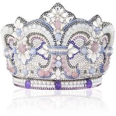 Judith Leiber Embellished Crown Clutch