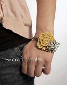 Fabric Flower Bracelet(and 15 other great gifts for teens or young adults!)