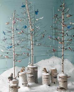 """Enchanted Forest: Christmas Tree Ideas by """"Martha Stewart Living"""" Editors   Martha Stewart"""