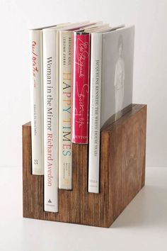 Book stand/ I like this idea for making bookends, too