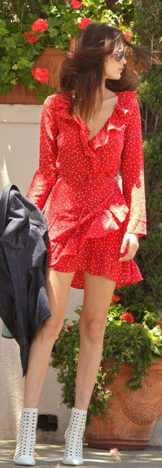 Bella Hadid: Dress – Realisation Sunglasses – Victoria Beckham Collection Shoes – Tamara Mellon