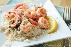 Low-FODMAP Lemon Shrimp over Rice / Delicious as it Looks