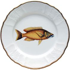 Antique Fish 9.5 In Dinner Plate No. 1 | Gracious Style