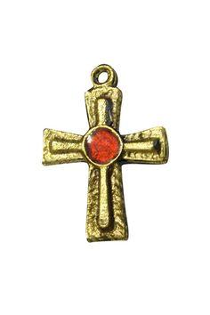 Bronze Cross with Enamel Center – Celebrate Faith