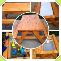 Kids custom picnic tables w/storage and choice of finish. Hand Made to Order. by GnHWoodCrafters on Etsy