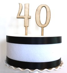 Wood number cake toppers. Perfect for a birthday or Anniversary cake.