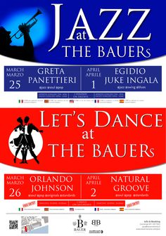 Two #weekends, two #evenings, two #appoinments . For two weeks #Bauer double its appointment, #Jazz on Friday and Let's Dance on Saturday!