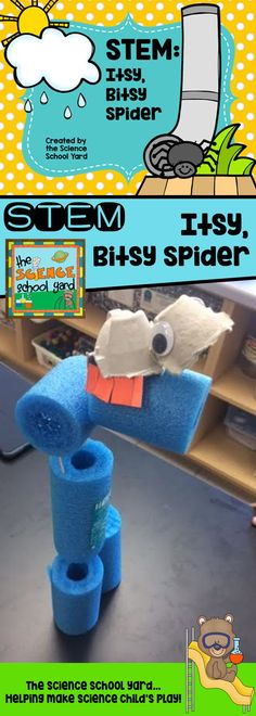 Three great STEM activities to go with the Itsy, Bitsy Spider song and story! From building a better way for the spider to climb...to building a water spout and the perfect spider to climb up it...this pack is sure to please little critters! Perfect for learning about spiders, too!