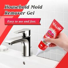 Household Mold Remover Gel ✅Quickly and easily remove stains and mold from crevices in your home. Diy Home Cleaning, Bathroom Cleaning Hacks, Household Cleaning Tips, House Cleaning Tips, Diy Cleaning Products, Cleaning Solutions, Cleaning Spray, Deep Cleaning Tips, Kitchen Cleaning