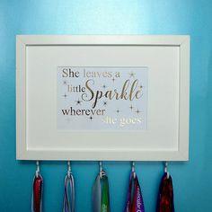 Medal Hanger FrameShe Leaves A Little Sparkle Inspirational