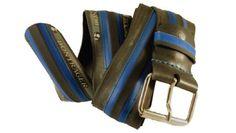 BLAU BONTRAGER. #Cinturon realizado con #neumatico de bicicleta, con hebilla metálica regulable. Ancho 5 cm. #tstil #belt #reciclaje #Barcelona