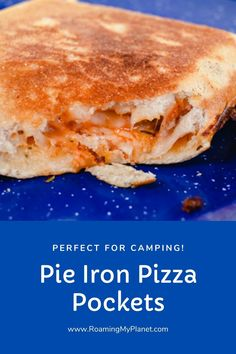 These Pie Iron Pizza pockets are super easy to make on the campfire. Since these are individual pizza pockets, everyone can add their own pizza topping to make their pie iron pizza pocket unique! So if you are looking for recipes for pie irons, keep scrolling to the bottom! Camping Recipes, Pie Iron recipes, campfire recipes, rv recipes, rving, pop up camping, pizza . Camping Pizza, Camping Meals, Campfire Recipes, Campfire Food, Holiday Recipes, Great Recipes, Pie Irons, Pie Iron Recipes, Homemade Pesto Sauce
