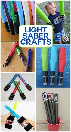 If you have kids that are crazy over all things Star Wars they will love all of these fun ways to make a light saber!