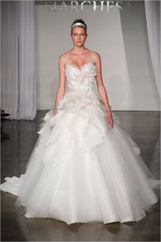 Ball Gown Wedding Dresses : blooming wedding dress