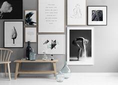 Botanische print in minimalistisch interieur