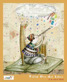 Posters to celebrate Children's Book Day, 2012 / Carteles para celebrar el Dia del Libro Infantil, 2012.  Poster de Yara Kono.