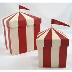 Carnival Boxes - fill with fairy floss, red nose,