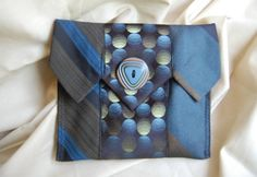 Awesome clutch made from upcycled ties. #Upcycling #Clothes and #Ideas