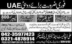 General Meson, Steel Fixer, Carpenter Abroad Jobs in Dubai / UAE
