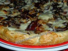 Solo Cose Buone : Torta salata con gorgonzola, speck e radicchio Quiche, Strudel, Yummy Food, Yummy Recipes, Pizza, Meat, Chicken, Muffin, Collage