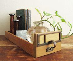 Library Card Catalog Drawer Vintage Wood Filing by twentytimesi. $27.50, via Etsy.