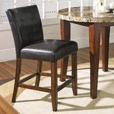 Found it at Wayfair - Montibello Counter Height Dining Chair in Multi-Step Rich Cherry