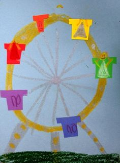 Ferris Wheel Coloring Pages  How to Draw a Ferris Wheel