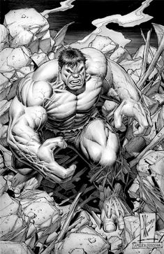 Incredible Hulk (after Sal Buscema) by Dale Keown