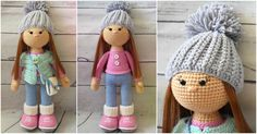 An adorable toy for little girls. Dress up your Molly with a colored jacket and hat. All parts are clearly described, enough to complete these dolls from A to Z. For more wonderful free patterns everyday follow us on Facebook. The link to the Molly Doll - Crochet Toy pattern is below. If you enjo