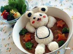 comida artistica - osito de arroz