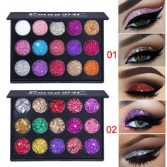 6 Colors Glitter Eyeshadow Eye Shadow Palette & Makeup Cosmetic (#172735089674) for $5.99 Eye Pigment, Gloss Eyeshadow, Waterproof Eyeshadow, Glitter Eyeshadow Palette, Makeup Palette, Eyeshadow Makeup, Makeup Cosmetics, Contour Makeup, Makeup Eyes