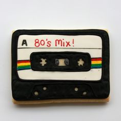 80s Mix Cassette Cookie - For all your cake decorating supplies, please visit craftcompany.co.uk