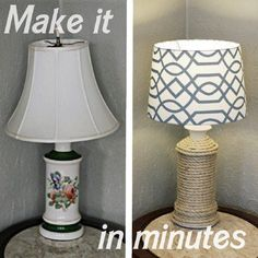 Twine Lamp - 40 Rustic Home Decor Ideas You Can Build Yourself. - Home Decor Cheap Home Decor, Diy Home Decor, Room Decor, Home Crafts, Home Projects, Diy Crafts, Decor Crafts, Luminaria Diy, Nautical Lamps