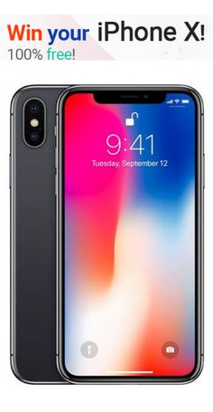 Get an iPhone X for free. Enter for a chance to Win brand new iPhone X. Don't miss the chance! It is common that liking one of the revolutionary brands like iPhone devices often and seeking for it is a natural thing. Iphone 100, Get Free Iphone, Iphone Phone, New Iphone, Get Free Stuff, Free Baby Stuff, Disney Movie Rewards, Free Iphone Giveaway, Free Phones