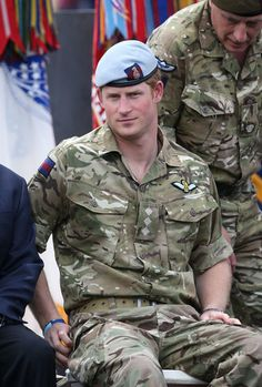I know someone I could throw camo on and he would be Prince Harry's doppelgänger...