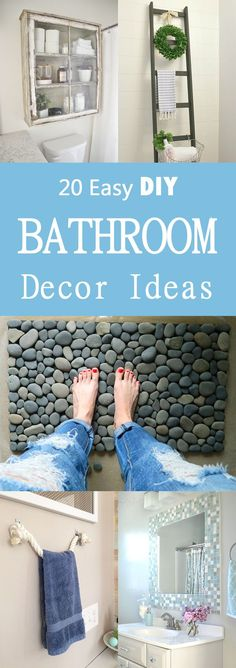 20 Easy DIY Bathroom Decor Ideas