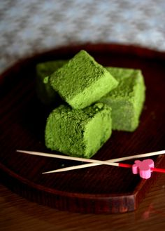 Matcha Green Tea Warabi Mochi|レンジで簡単 わらびもち