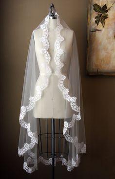 Mantilla Style Veil - The Maria Veil. $195.00, via Etsy.