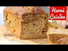 Cake moelleux à la banane et aux amandes sans beurre et sans sucre ajouté - HerveCuisine.com
