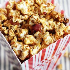 Candied Honey-Adobo Popcorn with Bacon and Lime