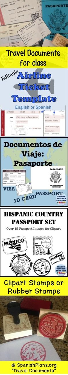 Templates to use for classroom theme: travel theme. Each students get a passport and stamps their passport pages and they journey through the year.