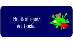 Art Teacher Rectangle 2 Line Name Tag B - Name Tag Wizard
