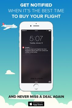 Hopper tells you when to fly & buy! Download the app & save up to 40% on your next flight ✈️