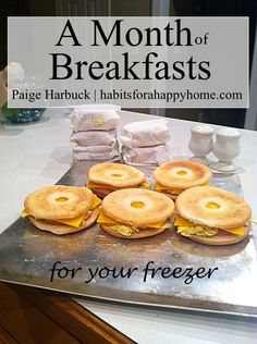 If you and your family love breakfast you should consider breakfast freezer cooking. Here is just how to make a month of breakfasts for the freezer.