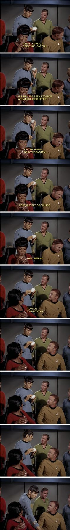 I love this scene from the Trouble with Tribbles!